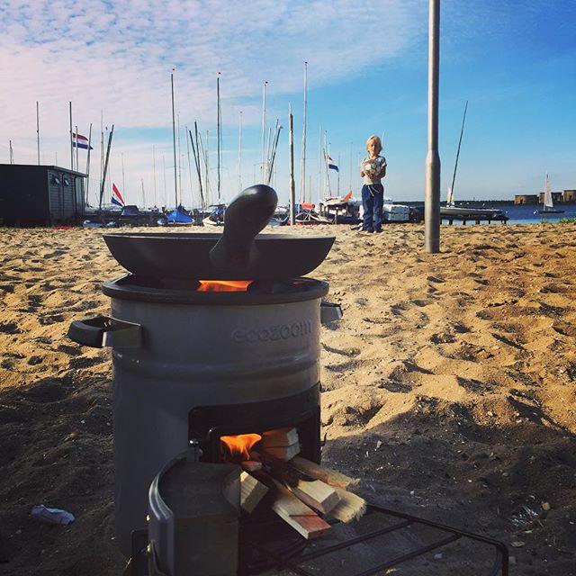 Koken op het strand!