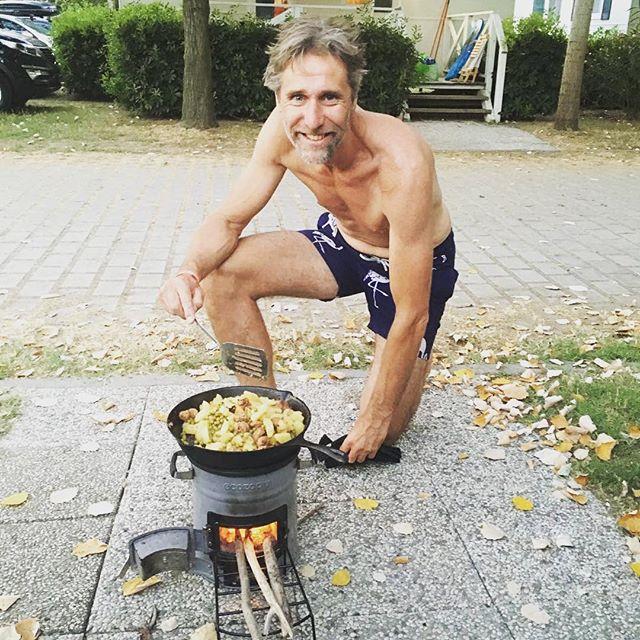Een tevreden klant op de camping....